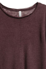Fine-knit jumper - Burgundy - Ladies | H&M 3
