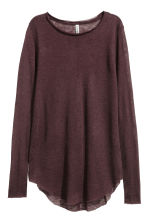Fine-knit jumper - Burgundy - Ladies | H&M 2