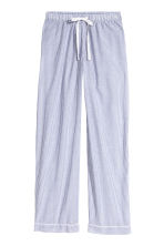 Cotton pyjama bottoms - Blue/White/Striped - Ladies | H&M CN 2