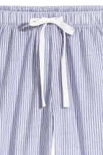 Cotton pyjama bottoms - Blue/White/Striped - Ladies | H&M CN 3