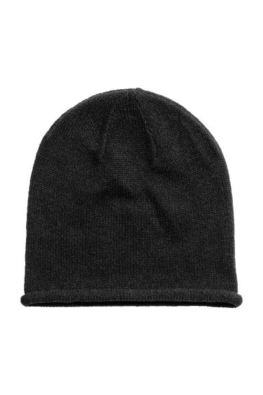 Knitted hat - Black - Ladies | H&M CA