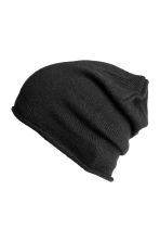 Knitted hat - Black - Ladies | H&M CN 2