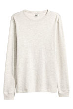 Waffled top - Light grey - Men | H&M 2