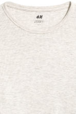 Waffled top - Light grey - Men | H&M 3