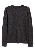Waffled top - Dark gray melange - Men | H&M 2