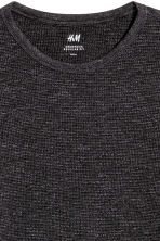 Waffled top - Dark gray melange - Men | H&M 3