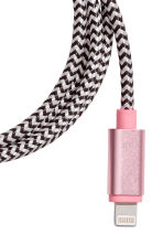 Charging cable - Pink/Black - Ladies | H&M CN 2
