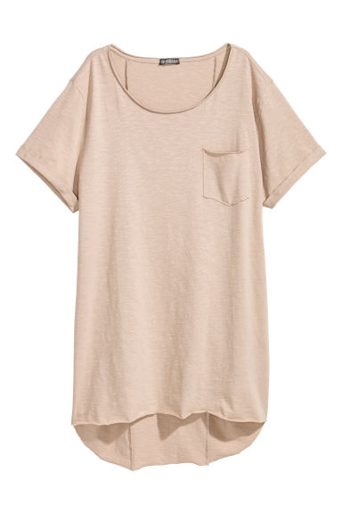 T-shirt long - Beige - HOMME | H&M FR