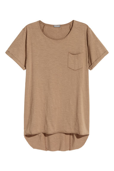 Long T-shirt - Light brown -  | H&M