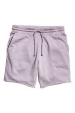 Knee-length sweatshirt shorts - Lilac - Men | H&M CN 2