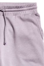 Knee-length sweatshirt shorts - Lilac - Men | H&M CN 3