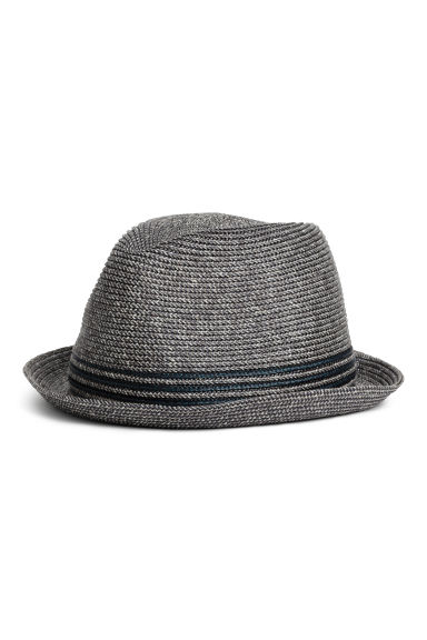 Braided hat - Dark blue marl -  | H&M CN