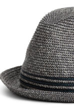 Braided hat - Dark blue marl - Men | H&M 2