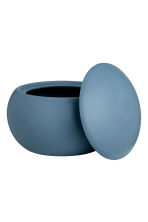 Round stoneware box - Dark blue - Home All | H&M IE 2