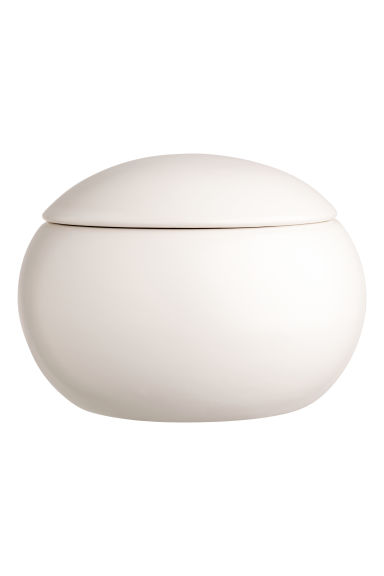 Round stoneware box - White - Home All | H&M CN 1