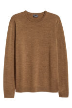 Merino wool jumper - Dark beige - Men | H&M 2