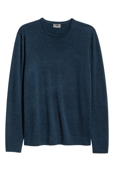 Merino wool jumper - Dark petrol - Men | H&M IE