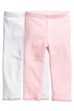 2-pack 3/4-length leggings - Light pink - Kids | H&M CN 2