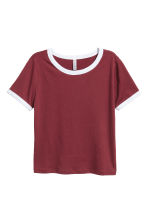 T-shirt corta - Bordeaux - DONNA | H&M IT 2