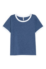Short T-shirt - Dark blue - Ladies | H&M 2