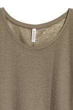Jersey crêpe top - Khaki green - Ladies | H&M 3