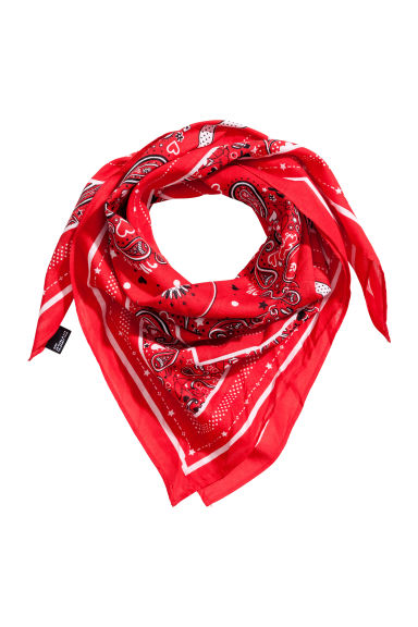 Patterned scarf - Red - Ladies | H&M 1