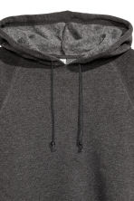Cropped hooded top - Dark grey marl - Ladies | H&M CN 2
