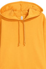 Cropped hooded top - Mustard yellow - Ladies | H&M 3