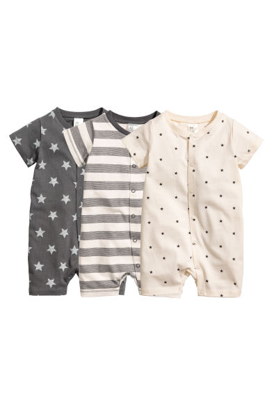 3-pack pyjamas - Dark grey -  | H&M CN 1