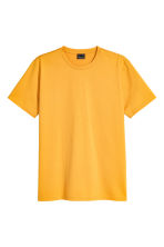 Premium cotton T-shirt - Mustard yellow - Men | H&M 2
