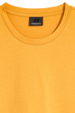 Premium cotton T-shirt - Mustard yellow - Men | H&M 3