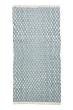Jacquard-weave cotton rug - Turquoise - Home All | H&M CN 1