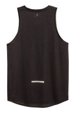 Running vest top - Black/Leaf - Men | H&M CN 3