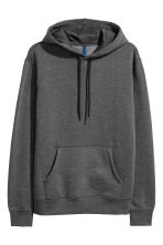 Hooded top - Dark grey marl - Men | H&M 1