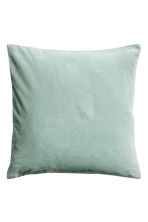 Velvet cushion cover - Light green - Home All | H&M CN 1