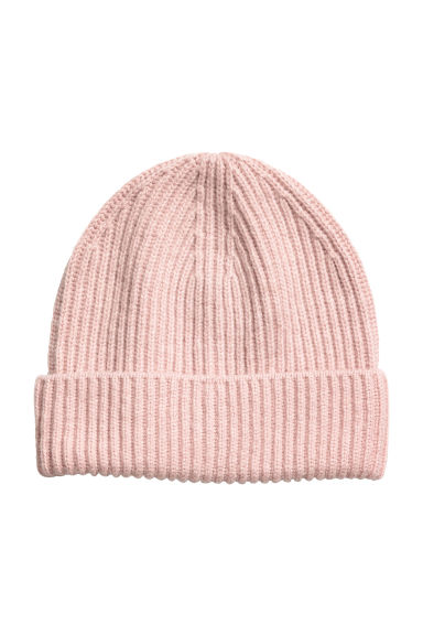 Ribbed hat - Powder pink - Ladies | H&M