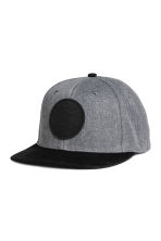 Cap with appliqué - Dark grey marl - Men | H&M CA 1