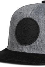 Cap with appliqué - Dark grey marl - Men | H&M CA 3