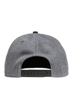 Cap with appliqué - Dark grey marl - Men | H&M CA 2