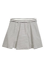 Striped jersey skirt - White/Black striped -  | H&M 2