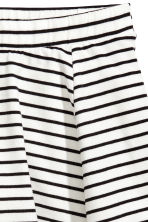 Striped jersey skirt - White/Black striped -  | H&M 3
