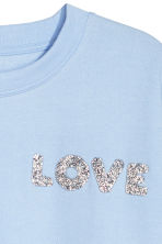 H&M+ Sweat-shirt - Bleu clair/Love - FEMME | H&M BE 3