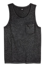 Vest top - Black marl - Men | H&M CN 2