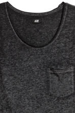 Vest top - Black marl - Men | H&M CN 3