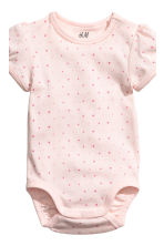 2-pack puff-sleeved bodysuits - Light pink/Patterned - Kids | H&M CN 3
