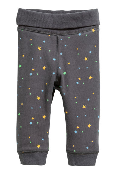 Jersey trousers - Dark grey/Multicoloured -  | H&M