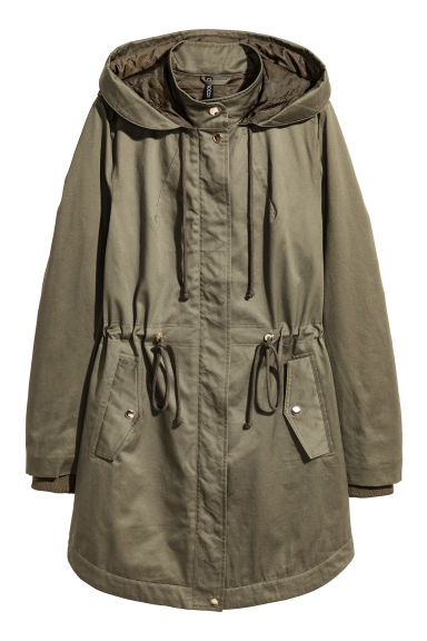 Padded parka - Khaki green - Ladies | H&M CN