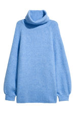 H&M+ Knitted polo-neck jumper - Blue marl - Ladies | H&M CN 2