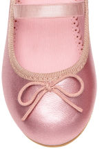 Ballet pumps with strap - Pink/Metallic - Kids | H&M 4