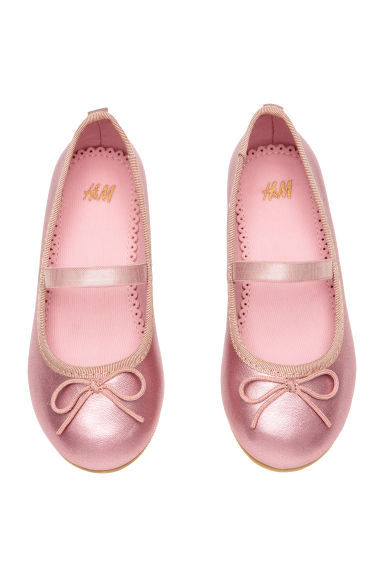 Ballet pumps with strap - Pink/Metallic - Kids | H&M 1